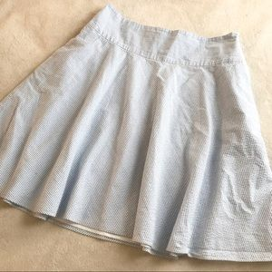 American Living blue tripped skirt size 10